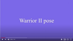 warrior pose